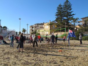 Sunshine, beer and beach vollyball for Aussie Day