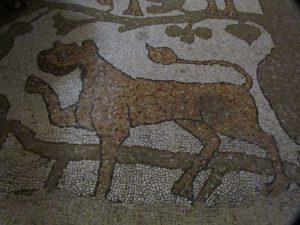 Half man - half dog on the cathedral mosaic