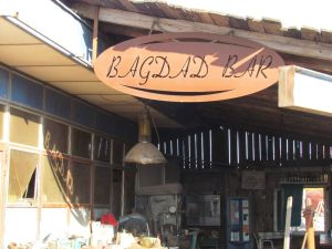 The Bagdad Bar in the boatyard