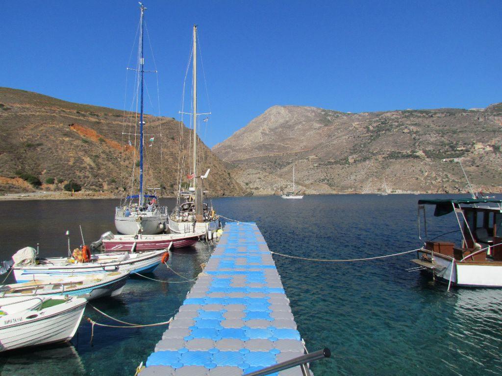 The pontoon at Porto Kayio