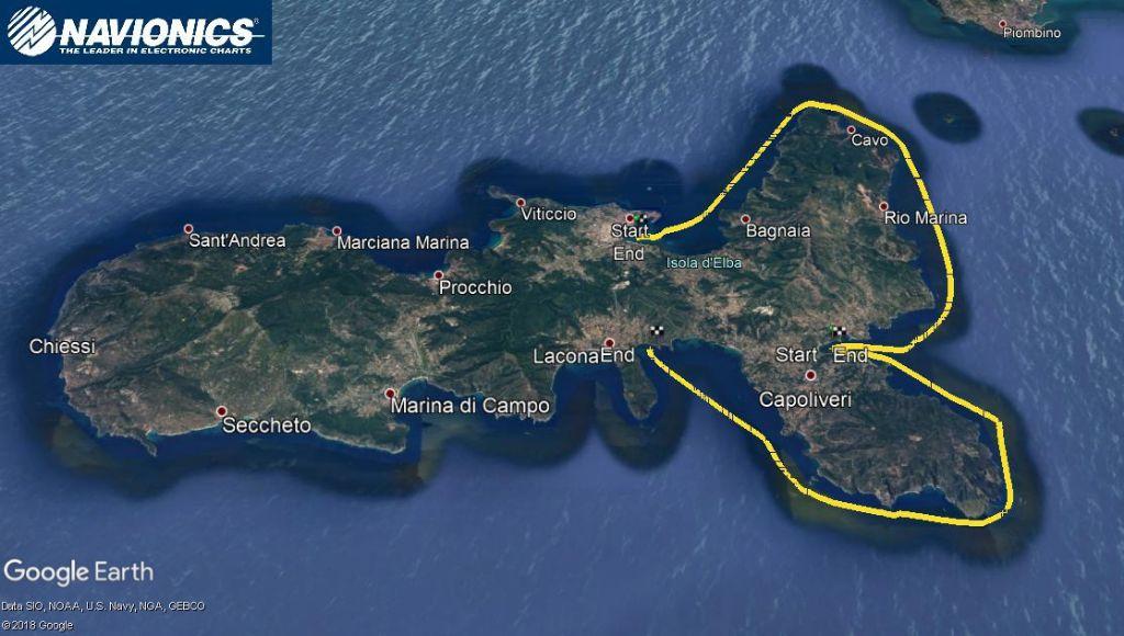 The shape of Elba looks like a fish