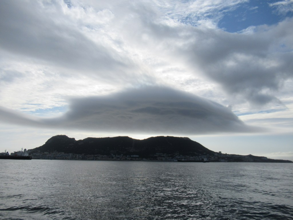 Dolphin shaped cloud over Gibraltar