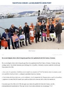 Yachts du Coeur - Cannes - La solidarité à bon port !
