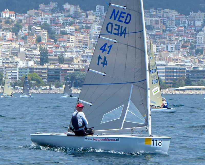 Karel Van Hellemond On Day 1 Of The Finn World Masters At