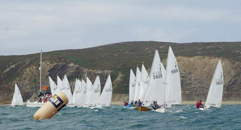 The fleet approaches the Gore start on Big Wednesday during the Firefly Nationals at Abersoch - photo © Frances Davison