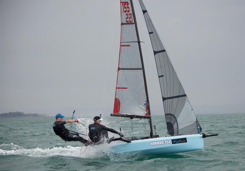 Stuart Bithell & Sam Pascoe on International 14 Prince of Wales Cup Week day 1 - photo © Mary Pudney