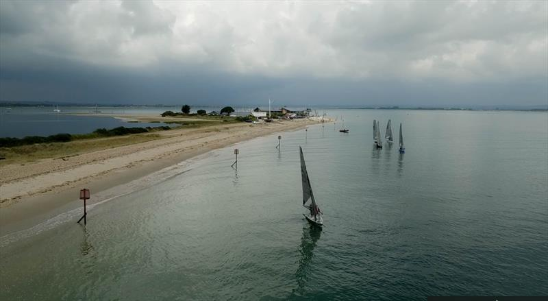 Stormy skies over Hayling Island on day 2 of International 14 Prince of Wales Cup Week - photo © Angus Peel