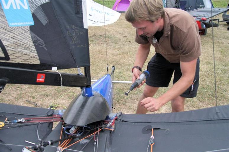 Dremel in action during the Noble Allen 2018 International Moth UK Championship at Thorpe Bay - photo © Mark Jardine / IMCA UK