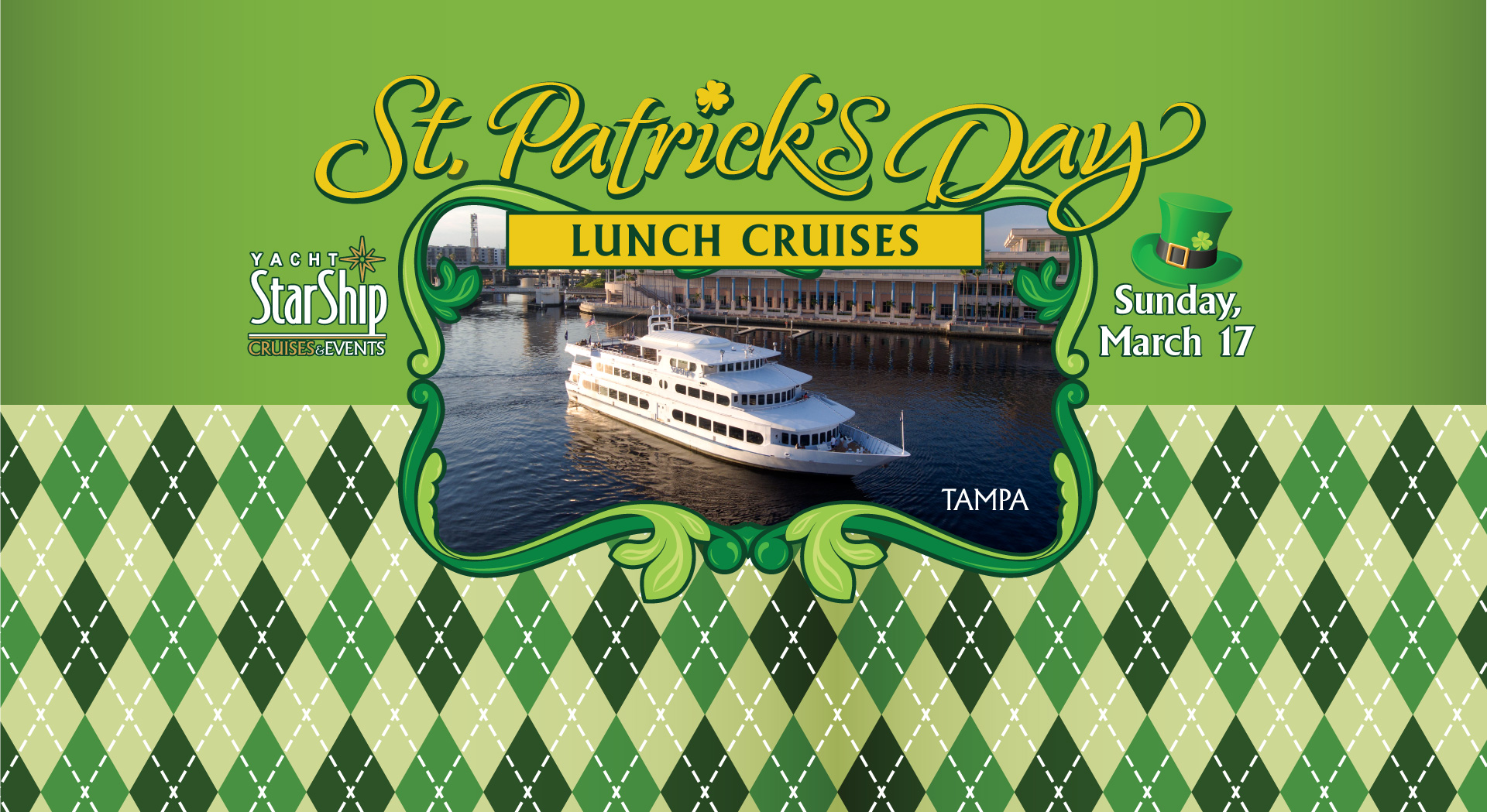 St Patricks Day Cruise Yacht StarShip