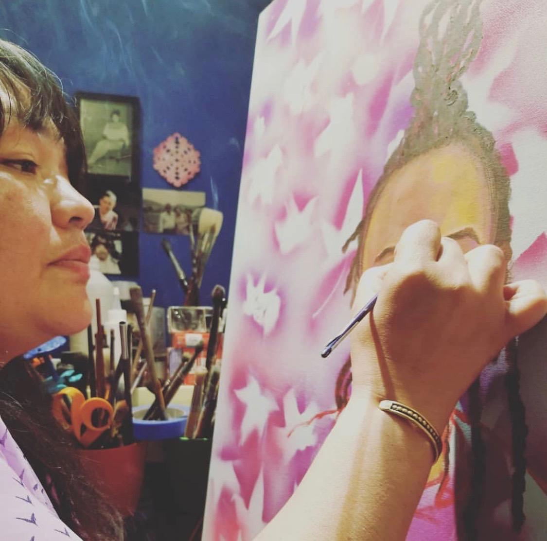 artist-yadira-cazares-painting-portrait
