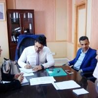 """لقاء يجمع الوكيل """"زين"""" ومنظمة """"أمديست"""" حول برامج تعليمية وتدريبية للشباب في عدن"""