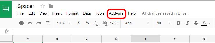 Google Sheets Add Addon