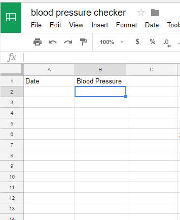 My Blood Pressure Sheet