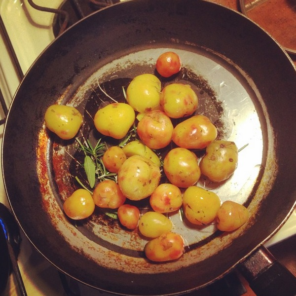Potatoes Cooked in the frying pan