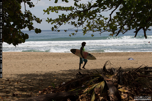 Costa Rica Surfer Caribbean Coast in Puerto Viejo Limon