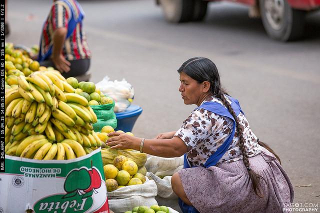 SantaCruzDeLaSierra Banana Street Vendor Bolivia