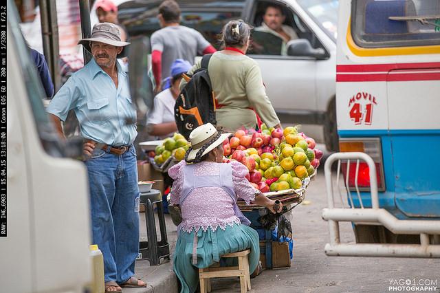 SantaCruzDeLaSierra Mobile Fruit Street Vendor Woman