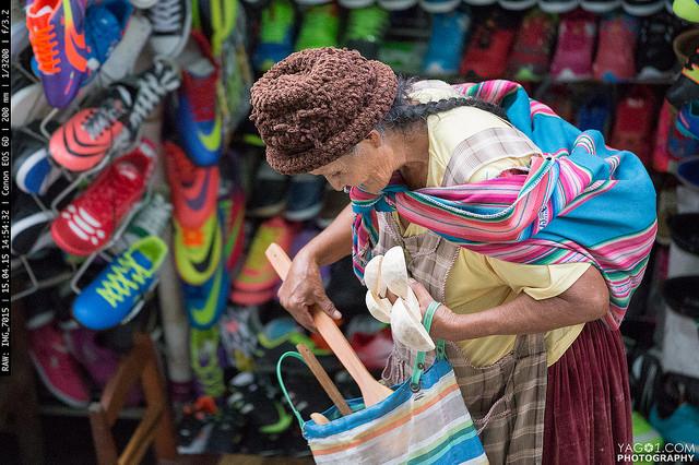 Santa Cruz Old Woman Colors Bolivia