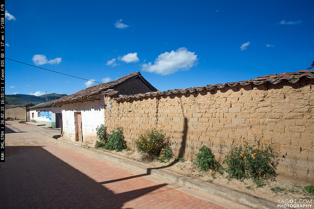 adobe wall in Bolivia