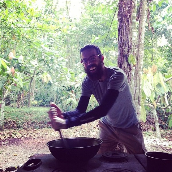 yago cooking some raw cacao