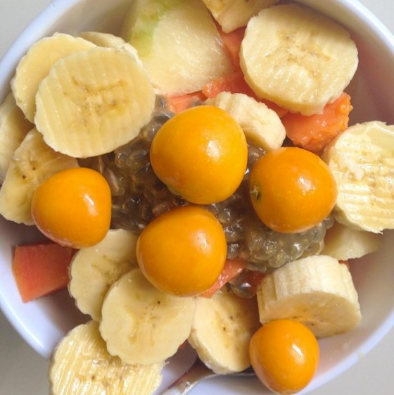 Uchuva tropical fruit salad