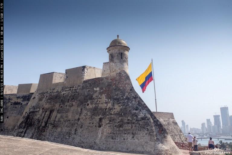 El castillo de Cartagena de Indias Colombia