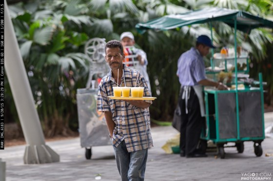 Fresh Orange Juice Street Vendor in Medellin Colombia