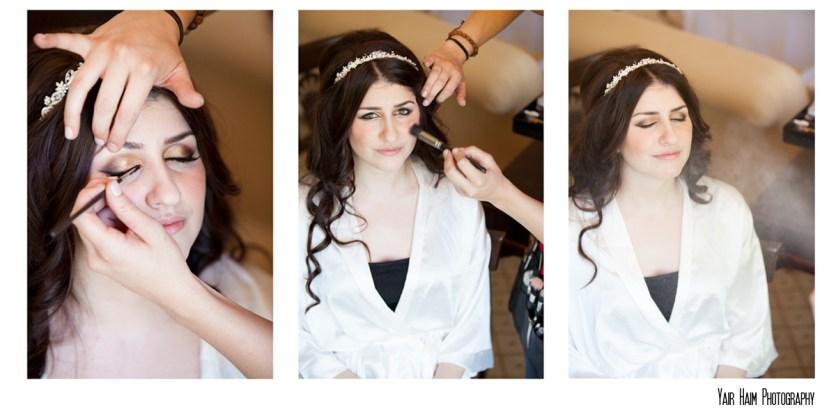Altadena Cuntry club wedding make up bride