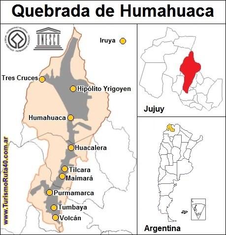 Carte de la Quebrada de Humahuaca