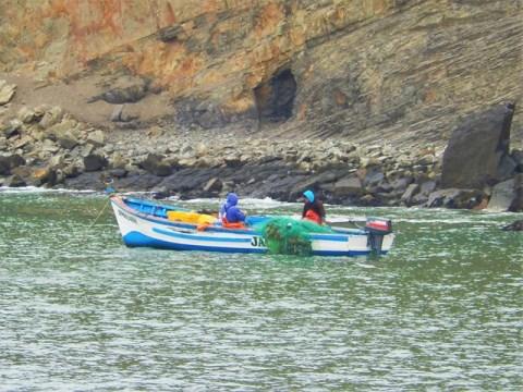 Pérou Paracas pêcheurs