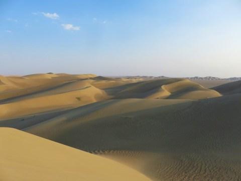 Iran désert varzaneh dunes