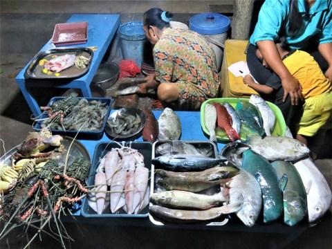Java Karimunjawa marché poissons