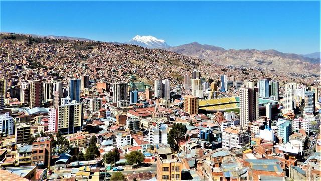 Bolivie La Paz mirador illimani