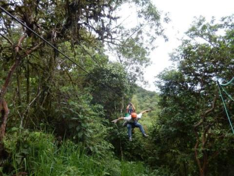 Equateur Mindo tyrolienne