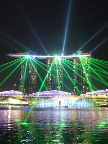 Singapour marina bay sands spectacle lumière