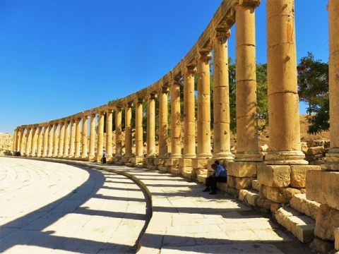 Jordanie Jerash forum ovale