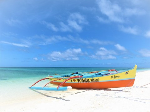 Philippines Camiguin white island bangka