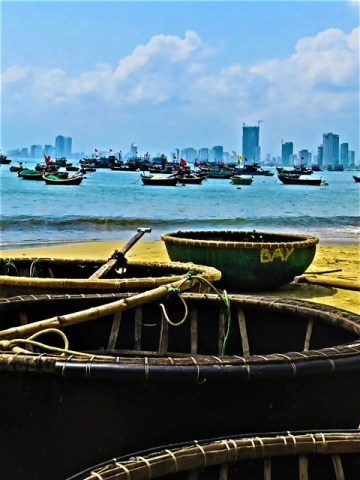 Vietnam Danang barques-paniers