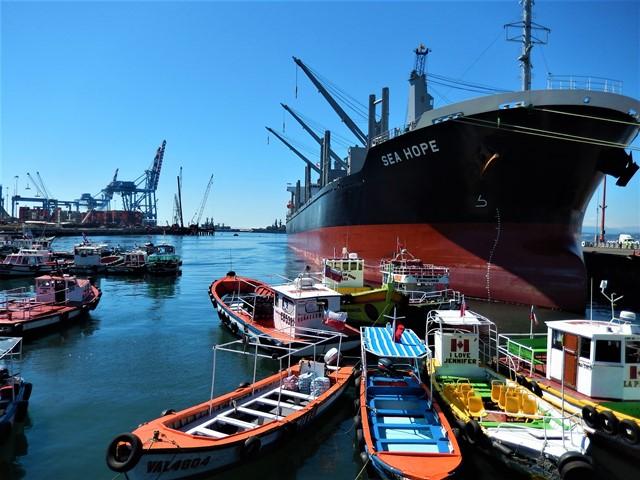 Chili Valparaiso port