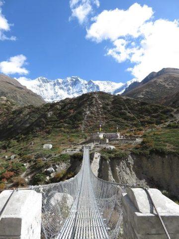 Népal Trek Circuit des Annapurnas pont de singe