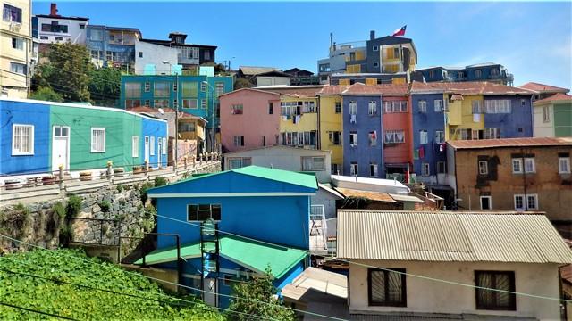 Chili Valparaiso colline