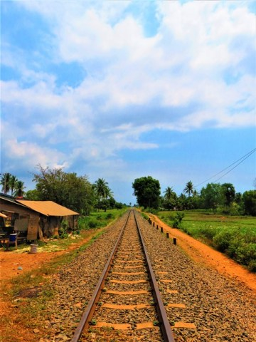 Cambodge Kampot rails