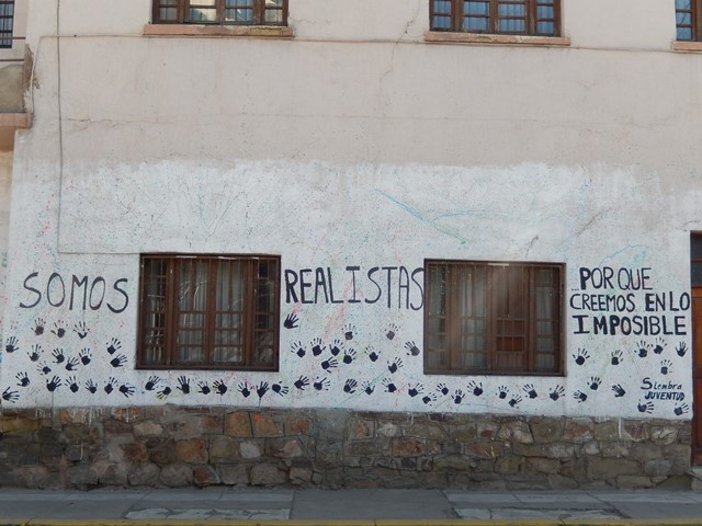 Bolivie Cochabamba somos realistas