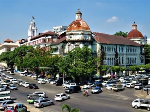 Myanmar Yangon bâtiments coloniaux