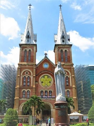 Vietnam Ho-Chi-Minh ville cathédrale Notre-Dame