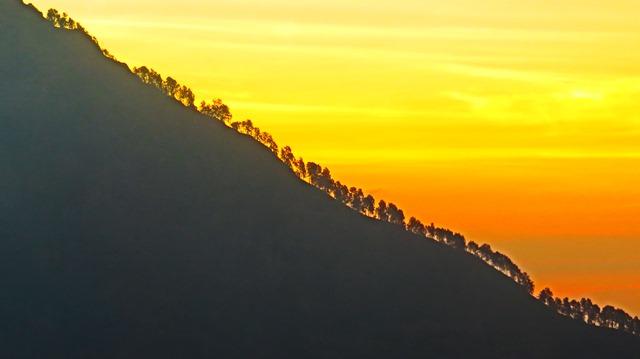 Lombok rinjani coucher de soleil
