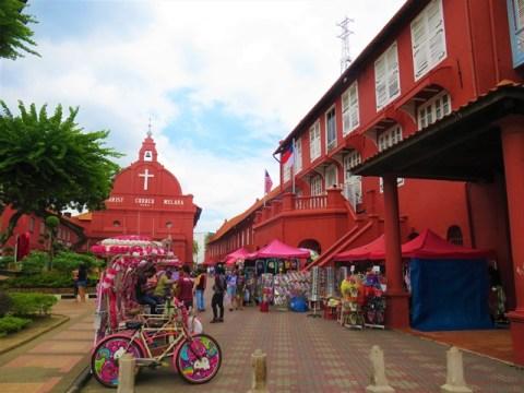 Malaisie Malacca hôtel de ville église