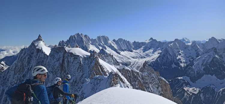 Alpinisme Arête Aiguille du Midi
