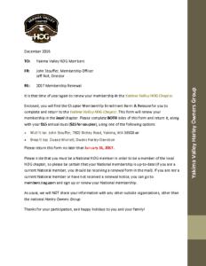 Yakima HOG Membership Packet 2017