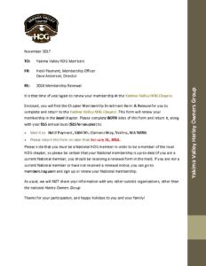 Yakima HOG Membership Packet 2018